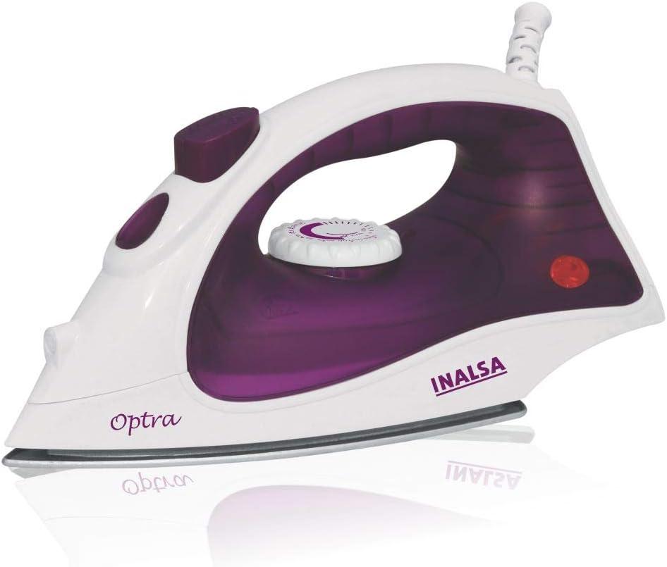 INALSA Steam Iron Optra-1400W (White/Purple)