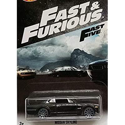 Hot Wheels Fast and Furious 2020 Series Black Nissan Skyline DIE-CAST Exclusive, F&F Nissan: Toys & Games