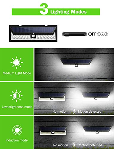 LITOM Enhanced 102 LED Super Bright Solar Lights Outdoor, Solar Motion Sensor Lights with 270°Wide Angle, IP65 Waterproof, Easy-to-install Security Lights for Front Door, Yard, Garage, Deck(2 Pack) by Litom (Image #5)