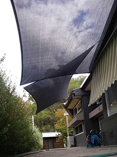 San Diego Shade Sail 20 x12 Rectangle Grey – Heavy Duty Commercial Grade Shade Sail