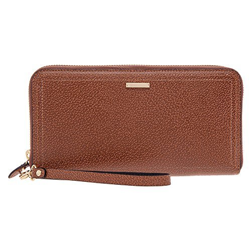 Lodis RFID Wallet Case for iPhone 6, Samsung Galaxy S4 - Retail Packaging - Chestnut