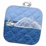 3dRose Sandy Mertens Michigan Travel Designs - Ferry to Mackinac Island Michigan - 8x8 Potholder (phl_6273_1) offers