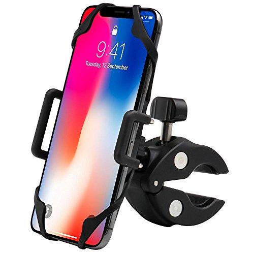 EXSHOW Bike Phone Holder with Non-slip Rubber Grip - mountai