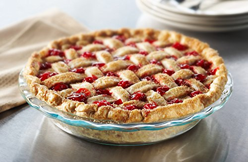 Pyrex 2-Pack Easy Grab Glass Pie Plate, 9.5-Inch