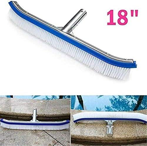 """ZHANGLE Schwimmbadbürste 18""""polierte Aluminium-Rückenreinigungsbürste mit EZ-Clips Reinigt mühelos Wände Fliesenböden"""