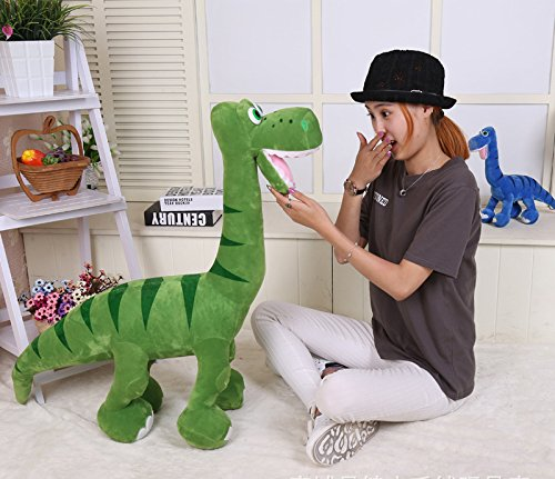 1pcs 80CM Big Plush Cute Green Dinosaur Giant Large Stuff...