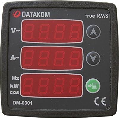 DATAKOM DM-0301 Single-Phase Digital Multimeter Panel, 170-275V power supply