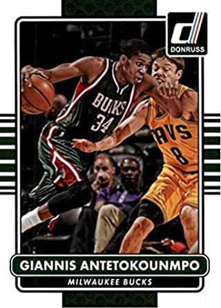 Milwaukee Bucks 2014 2015 Hoops Basketball Factory Sealed 10 Card Team Set with Giannis Antetokounmpo 2nd Year Card #62