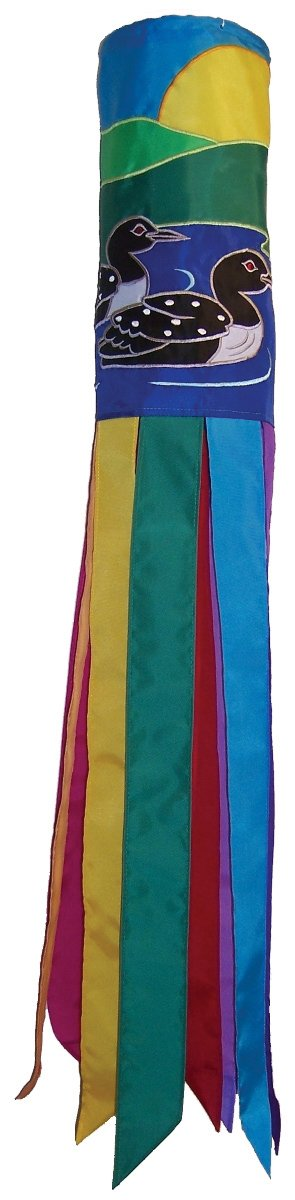 In the Breeze Pair of Loons Windsock, 40-Inch