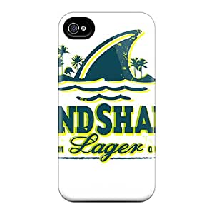 Hot Fashion AaumWeN3172jAyNa Design Case Cover For Iphone 4/4s Protective Case (land Shark)