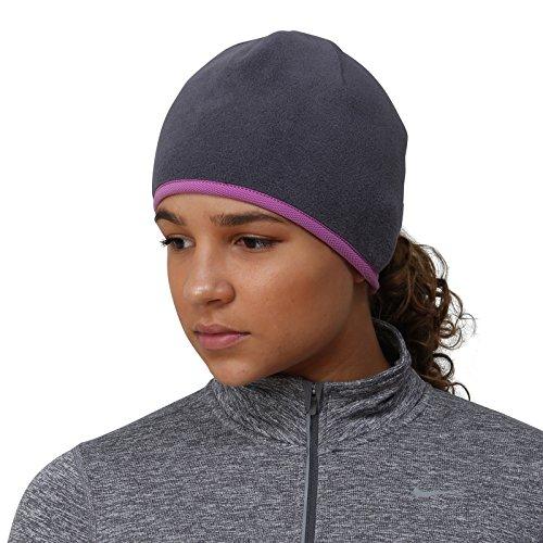 (TrailHeads Women's Running Ponytail Hat - charcoal/purple)
