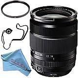 Fujifilm XF 18-135mm f/3.5-5.6 R LM OIS WR Lens 1642853 + 67mm UV Filter + Fibercloth + Lens Capkeeper Bundle