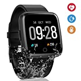 Deword 1.3 Inch Fitness Tracker Smart Watch, IP67 Waterproof Activity Tracker with Heart Rate Monitor, Wearable Smart Bracelet Sleep Monitor Step Counter Pedometer Watch for Men Woman