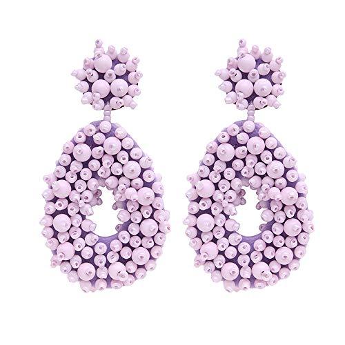 Fashion Statement Teardrop Dangle Drop Earrings beaded bead for women Mom Sisters Friends ()