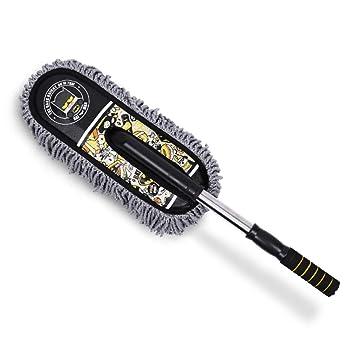 Erres BMDHA Cepillo Telescópica de Limpieza de Coche Microfibra para Cepillo Suave 69-83cm Patrón