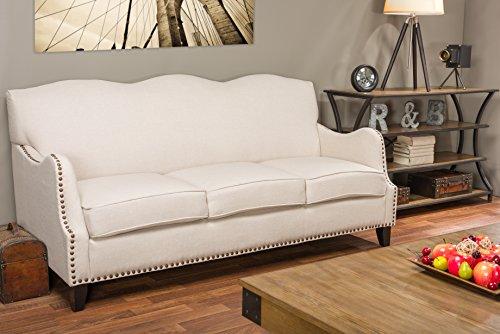Baxton Studio Penzance Beige Linen Sofa