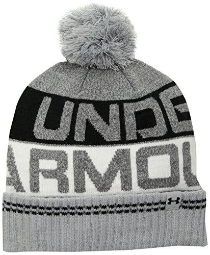 - Under Armour Men's Retro Pom 2.0 Beanie, Overcast Gray (941)/Black, One Size