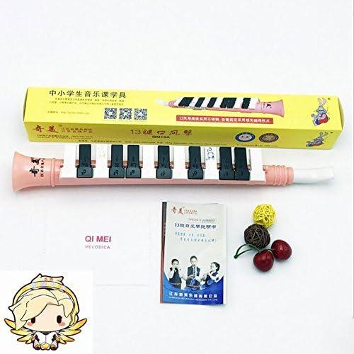 Wuudi 13/touches M/élodica pour salle de classe lenseignement Oral orgue Instrument de musique Bleu