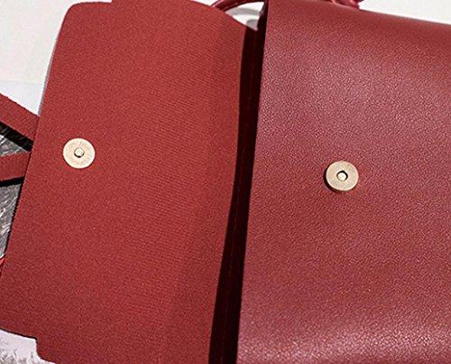 Piel Hombro De Rojo 17cm Pequeña 6cm De 19cm Mujer Manadlian Bolso Para Rojo H W Bolsos Bandolera L Bolso Baratos tXqCpnwEE