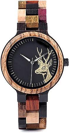 HJG Toda la Madera Movimiento Miyota Pareja Relojes de Pulsera Caja de Reloj (Color : Female): Amazon.es: Hogar