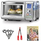 Cuisinart CSO-300 Combo Steam/Convection Oven (Silver) + Kamenstein Mini Measuring Spoons Spice Set + Nylon Flipper Tongs + Cookbook
