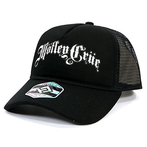H3 SPORTGEAR Motley Crue Band Logo Trucker Hat,Black,Adjustable