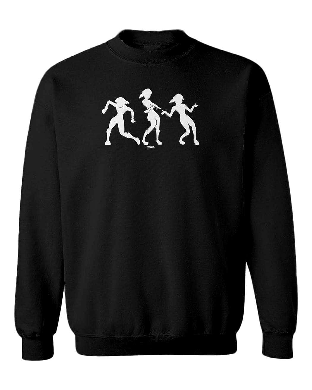 Meme Dance Video Game Youth Fleece Crewneck Sweater Orange Justice
