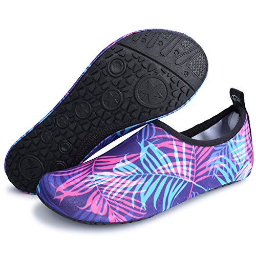 and Yoga Summer Aqua Surf for Swim Exercise Socks Shoes Water Mens Red Outdoor Leaf Womens Beach JIASUQI UwpqTT