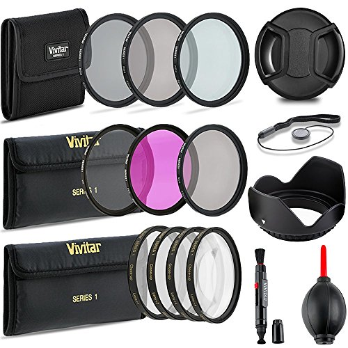 Professional 55MM UV CPL FLD Filters + Neutral Density Set + Close-Up Macro Set, 10 Piece Compact Photography Accessories For Nikon