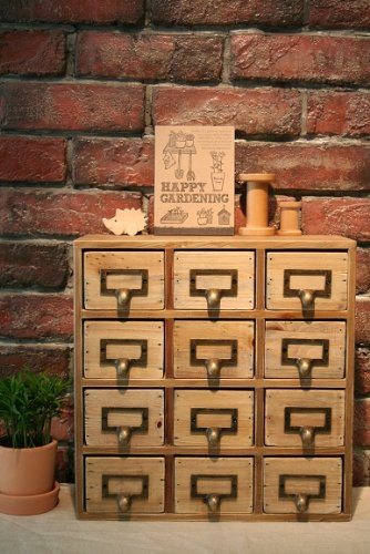 Amazoncom Natural Solid Wood 12Drawer Mini Chest Kitchen Dining