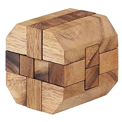 BRAIN GAMES Diamond Long Cube Wooden Puzzle