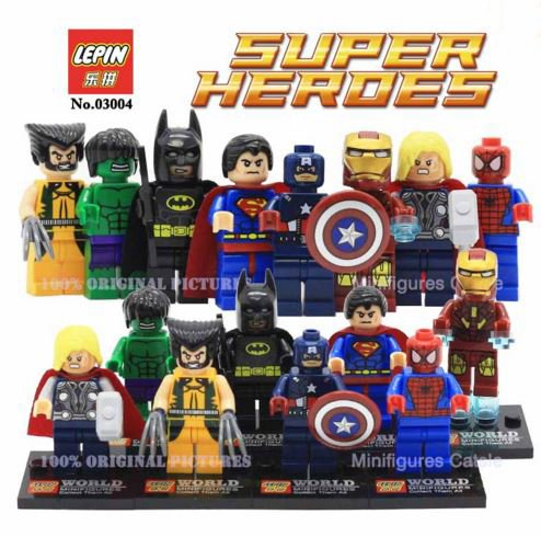 Superheroes The Avengers Building Block Set of 8 Action Figures 4.5 cm (Without Box)