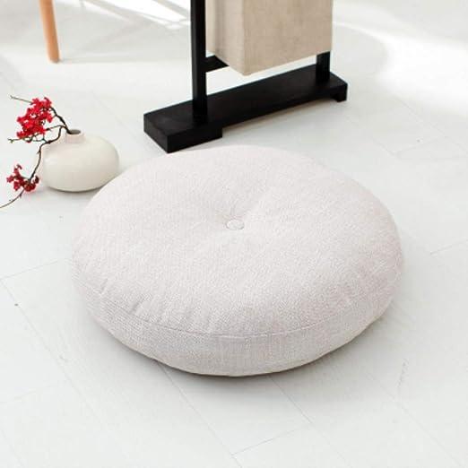 Grea Cojín de algodón de Lino Lotus Cojín de Asiento Redondo ...