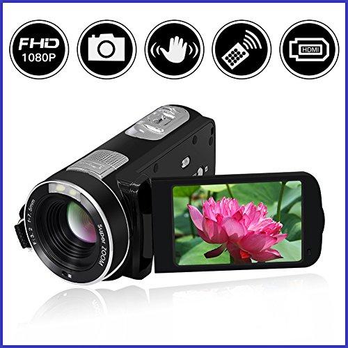 Video Camcorder Full HD 1080p Digital Camera 24.0MP 18x Digi