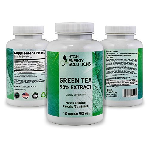 Cheap HIGH ENERGY SOLUTIONS Green Tea Extract Supplement with EGCG For Weight Loss – Energy – Metabolism Boost – Antioxidant Promotes Healthy Heart 120 Vegetable Capsules For Ultimate Bio-Availability