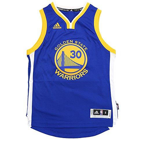 Youth Golden State Warriors Stephen Curry adidas Royal Blue 2014-15 New Swingman Road Jersey