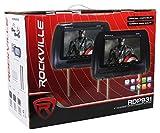 Rockville-RDP931-BG-9-Beige-Car-DVDHDMI-Headrest-Monitors2-Wireless-Headsets