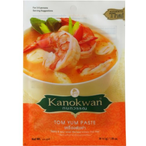 tom-yum-paste-thai-authentic-herbal-spicy-sour-soup-net-wt-30-g-105-oz-kanokwan-brand-x-5-bags