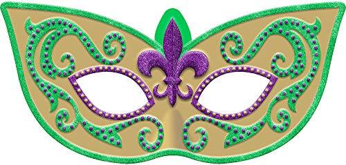 Amscan Glitter Mardi Gras Masquerade Mask Sign, Carnival Party Decorations, Plastic, 26