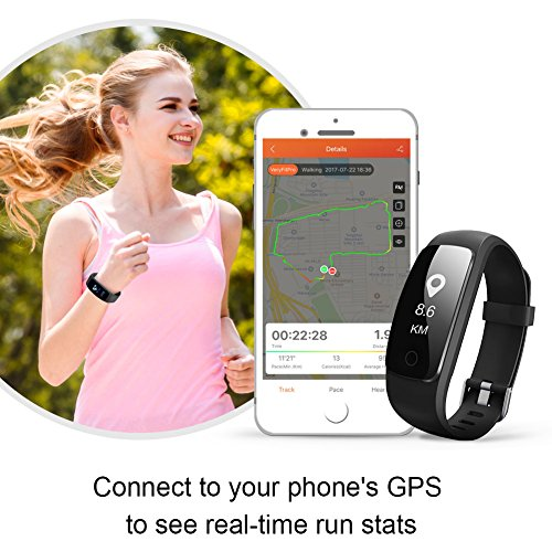 Fitness Tracker Heart Rate Monitor Watch, Letscom IP67 Waterproof Activity Tracker with Calorie ...