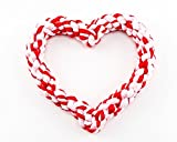 Valentine's Heart Rope Dog Toy by Midlee For Sale