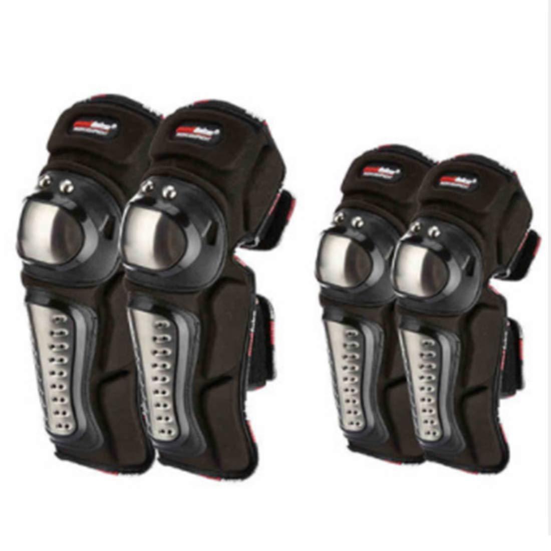 Cvthfyk Motorrad Ellbogen- und Knieschützer Outdoor-Reiten Anti-Fall-Schutzausrüstung Motocross Radfahren Protector Guard Armors Set für Radfahren Skating Skifahren Riding-4pcs (Size : One Set)