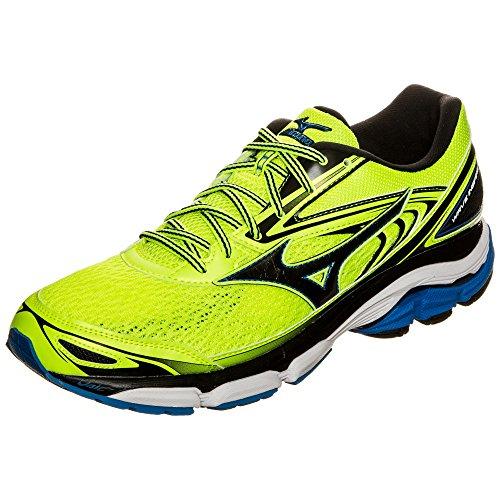 Mizuno Wave Inspire, Zapatillas de Running para Hombre, Amarillo Multicolor (Safetyyellow/black/directoireblue)