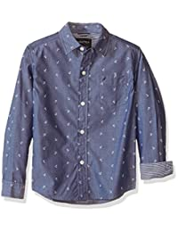 "Nautica Little Boys' ""Anchor Chambray"" Button-Down Shirt"