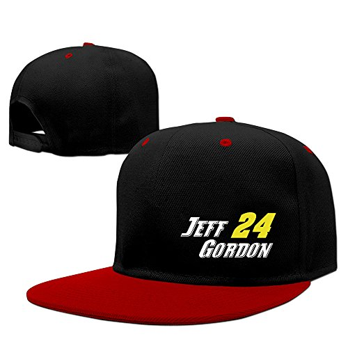 Cool Jeff-gordon #24 Raceway Logo Adjustable Baseball Cap Red