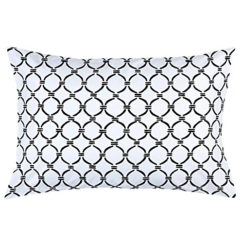 Carousel Designs Onyx Lattice Circles Pillow Case - Organic 100% Cotton Pillow Case - Made in The USA (Onyx Lattice)