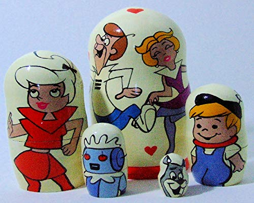 5pcs Hand Painted Russian Nesting Doll of The Jetsons