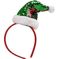 STOBOK Elfo de Navidad Sombrero Diadema Lentejuela Brillo