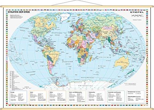 Staaten Der Erde Politisch 1 60 000 000 Wandkarte Mini Format