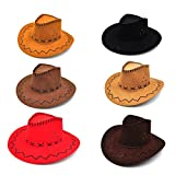 Tinksky 6 Packs Cowboy Hats Dress Up Party Hats for Photo Booths Themed Parties for Kids